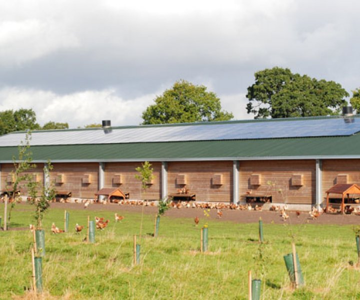 Solar PV system installed and producing electricity
