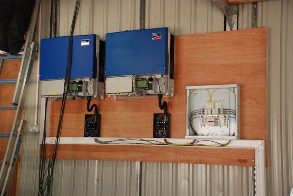 Inverters installed and wired in to distribution board